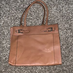 Handbags - Tan briefcase style bag